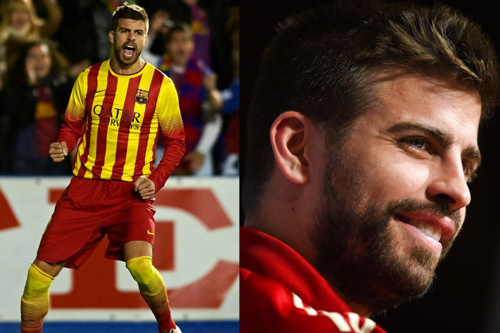 GERARD PIQUE, SPAIN: Just over four years ago, this handsome fellow starred alongside Shakira in the official FIFA World Cup music video and despite a significant age difference - he's 27, she's 37 (hard to believe, right) - they've been together ever since. Talk about a power couple - with her unstoppable hips (they don't lie you know) and his sexy grin, they're a force to be reckoned with.