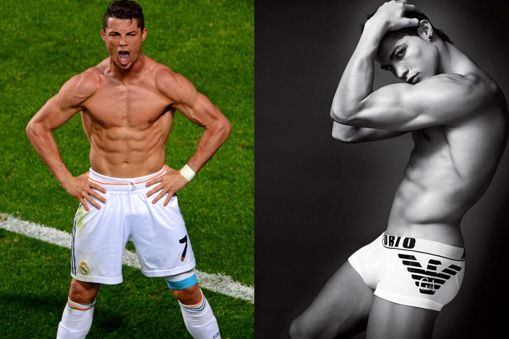 "CRISTIANO RONALDO, PORTUGAL: Words really cannot express just how smoking this man is, but one member of Team Life and Style put it rather aptly announcing, ""I can't help but have an animalistic reaction towards that"" in reference to the shot on the left."