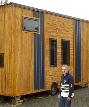 SMALL SPACES: Bevan Thomas hopes to inspire people to consider alternative housing.