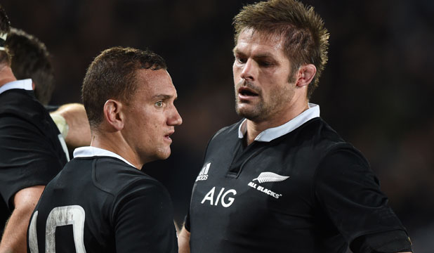 RUSTY: Aaron Cruden and Richie McCaw were among the All Blacks in struggling to find their rhythm in the first England test.