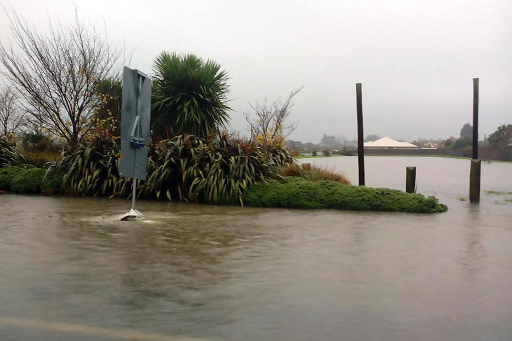 INUNDATED: Flooding appears to be widespread in Rangiora.