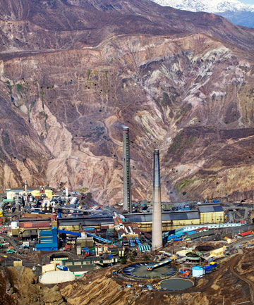 Codelco copper mine El Teniente