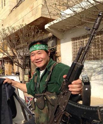 ARTIST ACTIVIST: Chen Weiming has visited Syria several times to work with the Free Syrian Army.