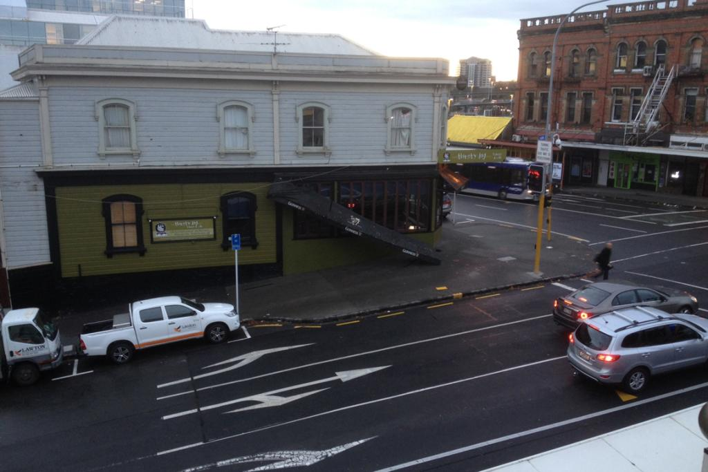 Damage at the Thirsty Dog pub in central Auckland.