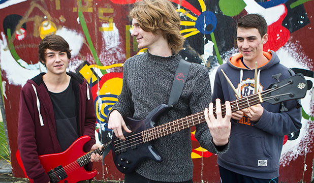 READY TO ROCK: The Sophisticates from Freyberg High School, from left, Caleb Finegan, 16, Henry Smithers, 17 and Elijah Houlahan, 17.