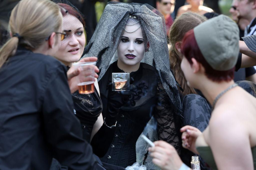 Punk remains a strong influence in today's Goth style as witnessed in Leipzig.