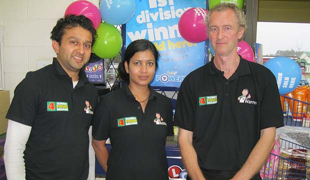 Darsh Patel and Ashika Patel and manager Warren Mitchell