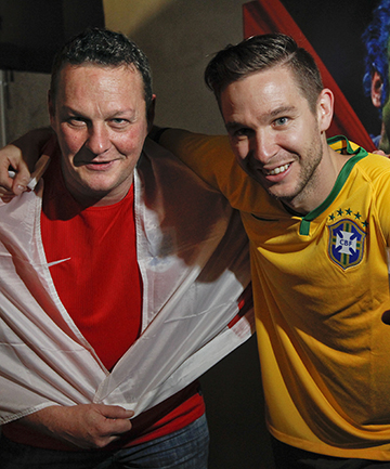 WORLD IN MOTION: Four Kings bar managers Geordie Craib and Cam Scoble will back long-shots England and favourites Brazil when the football World Cup begins on Friday.