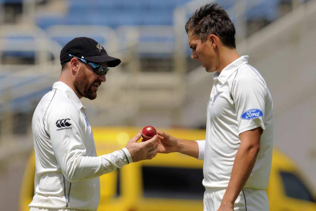 Brendon McCullum and Trent Boult