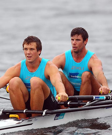 IN THE FAMILY: Brothers Robbie and Karl Manson will represent NZ at the remaining two World Cup regattas in France and Switzerland, and then at the world champs in Holland in August.