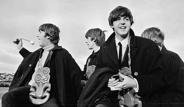FAB FOUR: The Beatles at Wellington Airport during their New Zealand tour, June 1964. They performed two shows at the Auckland Town Hall.