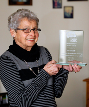 THAT'S DEDICATION: Tui Walsh has received a life membership of AFSNZ.