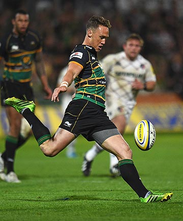 EXPANSIVE: James Wilson in action for English rugby champions Northampton Saints.