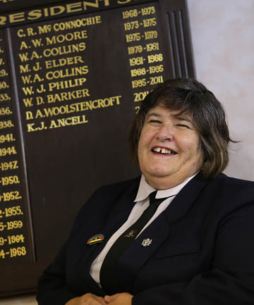WOMAN IN CHARGE: The Caroline Bay Association presidential roll of honour will have a woman's name on it with Heather Woolstencroft's election.