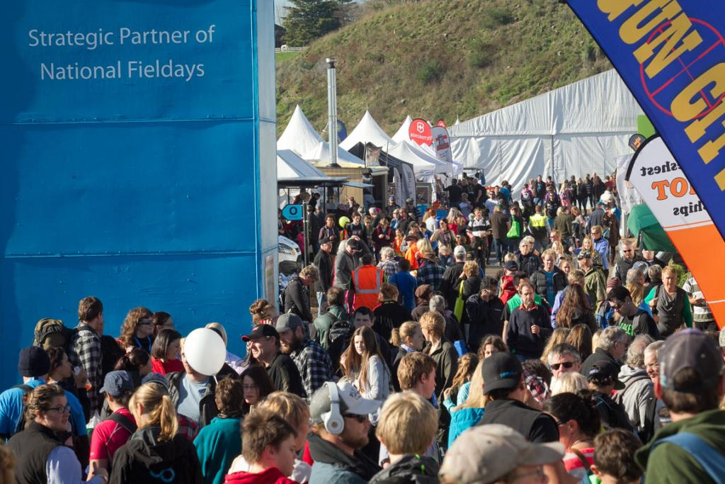 Better weather has brought in more people to the 2014 National Fieldays.
