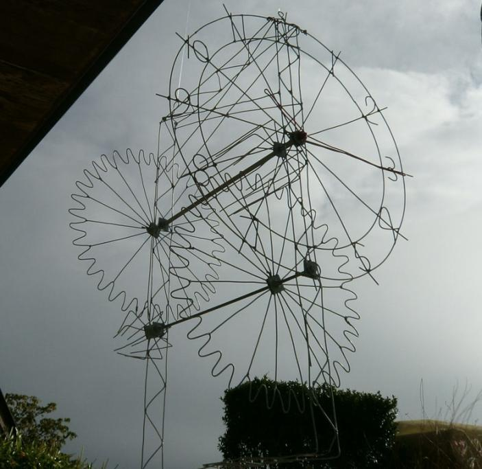 Some work of Morrinsville man Tony Gray, a finalist in No.8 Wire Art Awards at the 2014 National Fieldays.