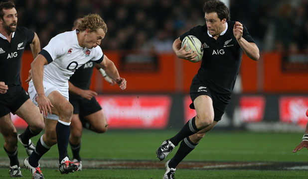 STAR POWER: All Blacks fullback Ben Smith was a standout performer for his side against England in Dunedin on Saturday night.