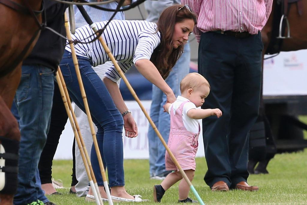 Prince George gets up and mobile.