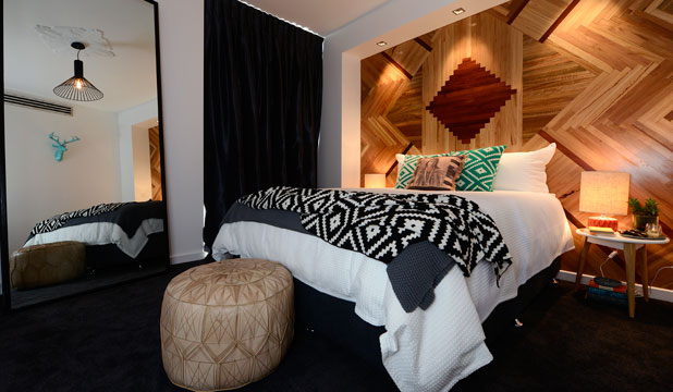 TEXTURE, TEXTURE, TEXTURE: Fabrics, carpets and cushioned surfaces all add up to make a sumptuous winter room like this one from The Block Australia.