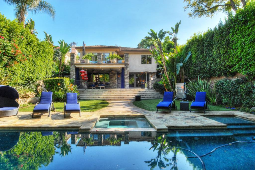 KALEY'S OLD DIGS: Kaley Cuoco has sold this house, and upgraded, buying Khloe and Lamar's former love nest.