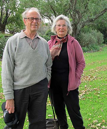 KEEN WALKERS: Parnell Trust volunteers Roger Cole-Baker and Patricia Yurak are thrilled their guided walks in Parnell and Newmarket have been turned into podcasts.
