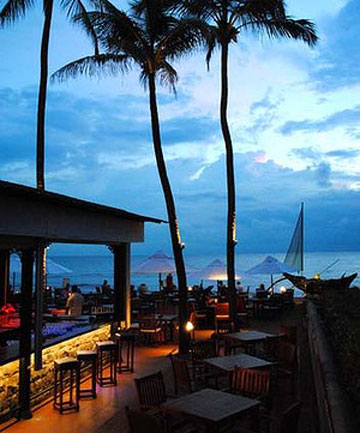 SUNDOWNER: Terrace bar at Galle Face Hotel.
