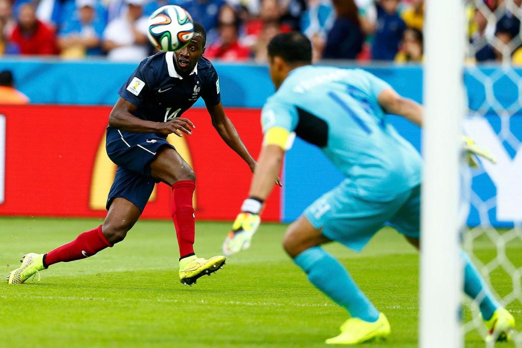 France's Blaise Matuidi tries to score a goal during their Group E match against Honduras.