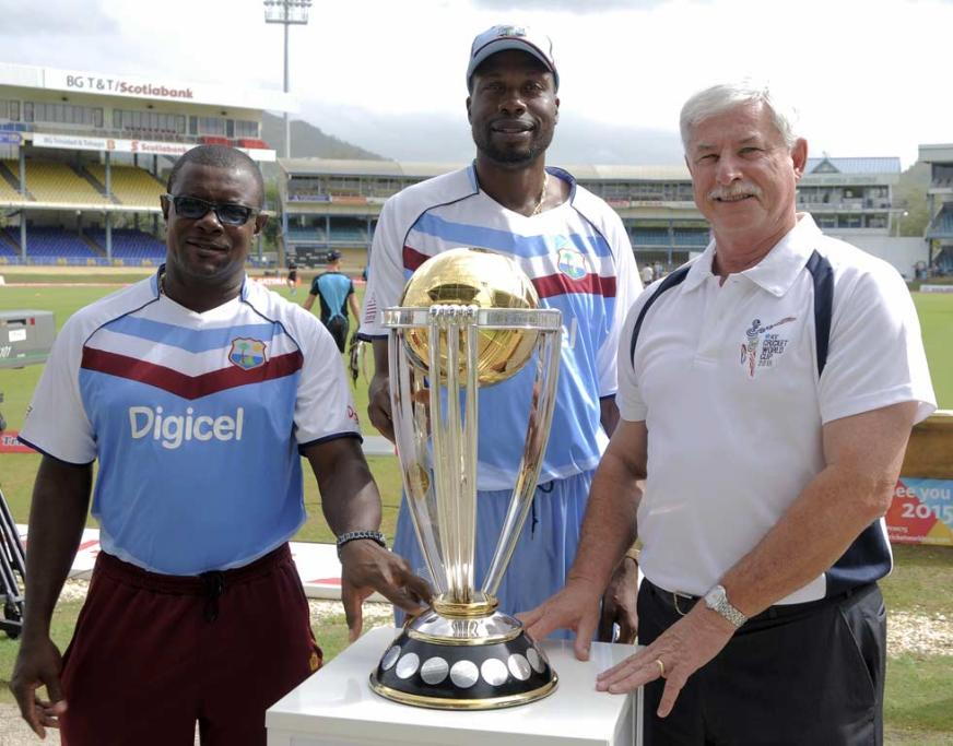 Sir Richie Richardson, Sir Curtley Ambrose and Sir Richard Hadlee