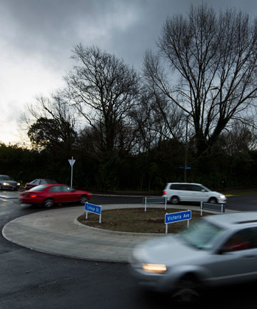 Roadworks resume: The new roundabout at the intersection of Victoria Ave and College St in Palmerston North has to be rebuilt.