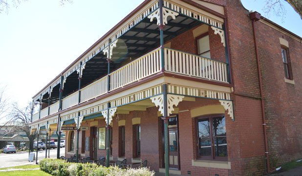 TIME FOR A PINT: The Daylesford Hotel, called Australia's best regional hotel.