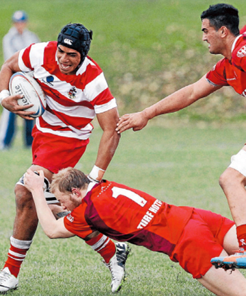 ON THE BURST: Pete Samu is expected to add even more athleticism to the Makos' loose forward division this year.