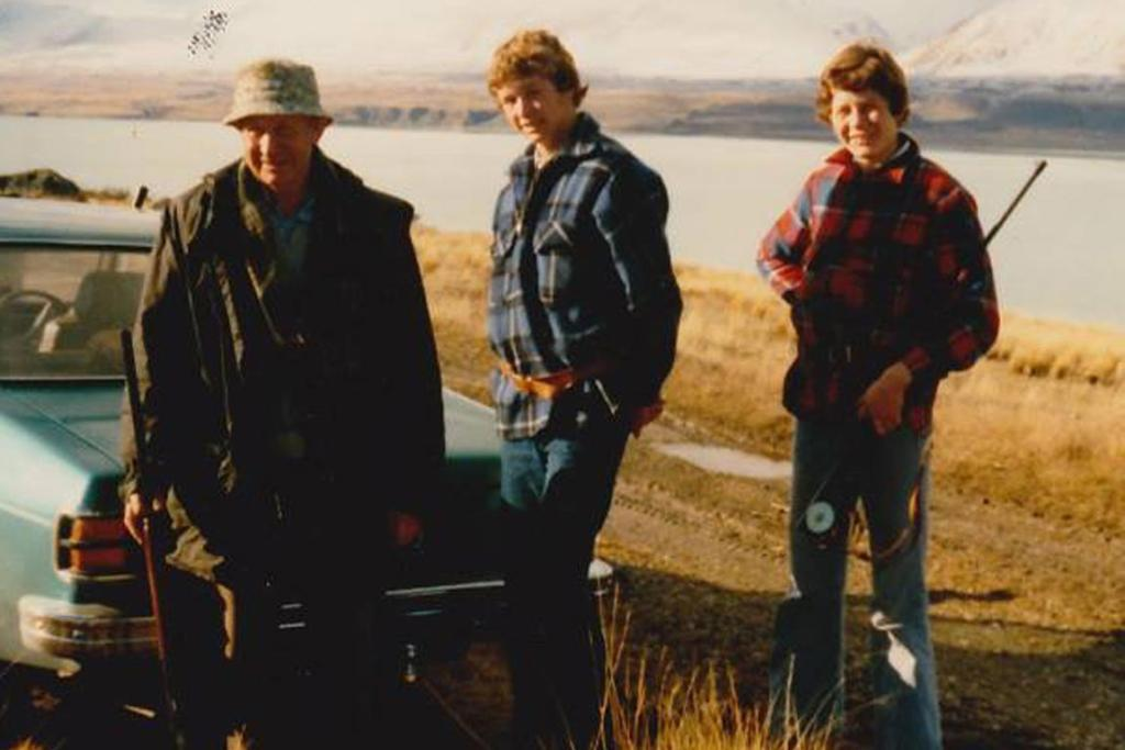 Bill Cunliffe, David Cunliffe and his brother Stephen Cunliffe are pictured in the Mackenzie Country sometime about 1978.