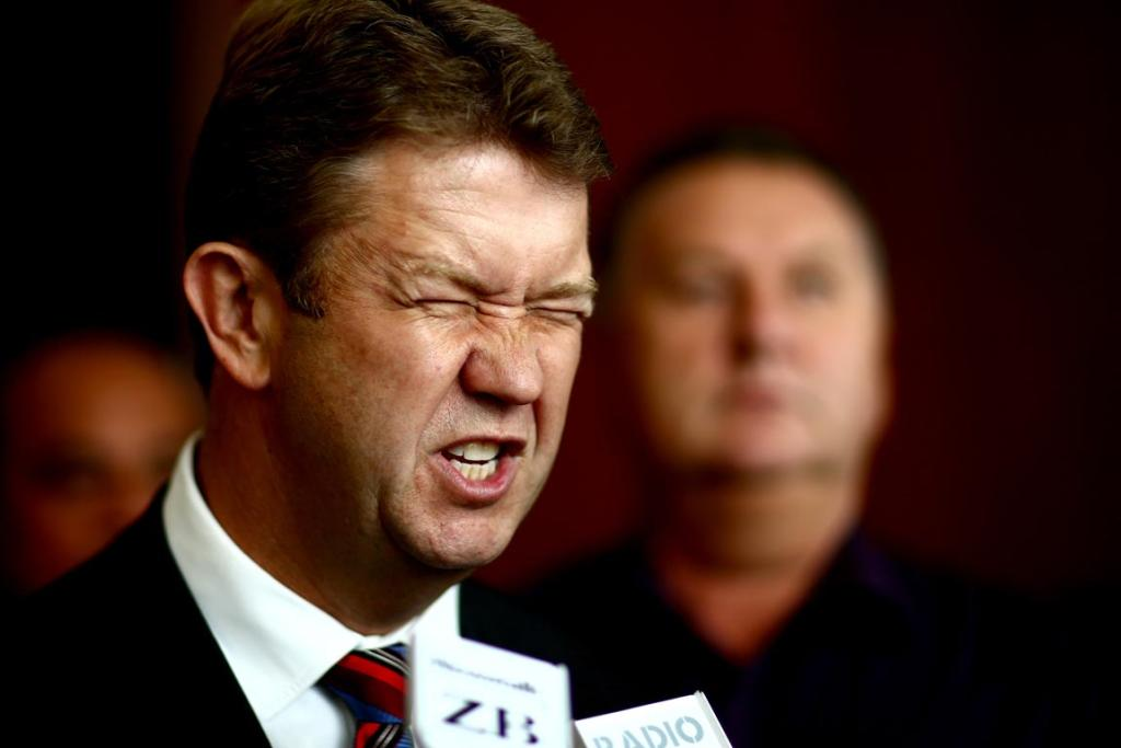 David Cunliffe talks to the media following a speech at Auckland's Pullman Hotel in March. Cunliffe was speaking to the New Zealand Institute about Labour's economic plans.