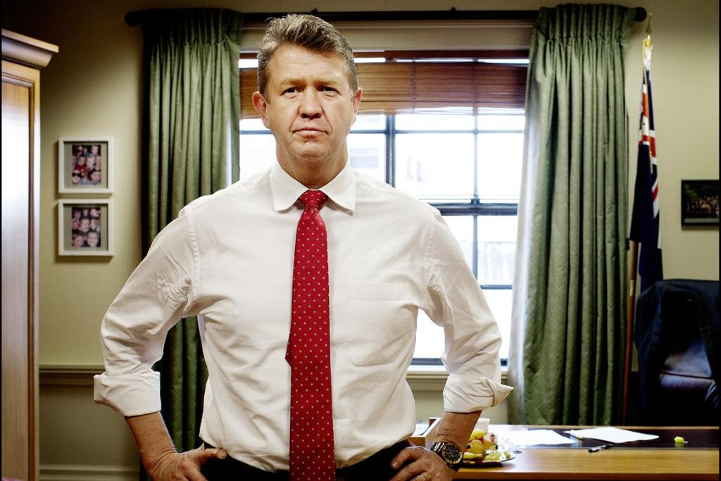 David Cunliffe in his Parliament office.