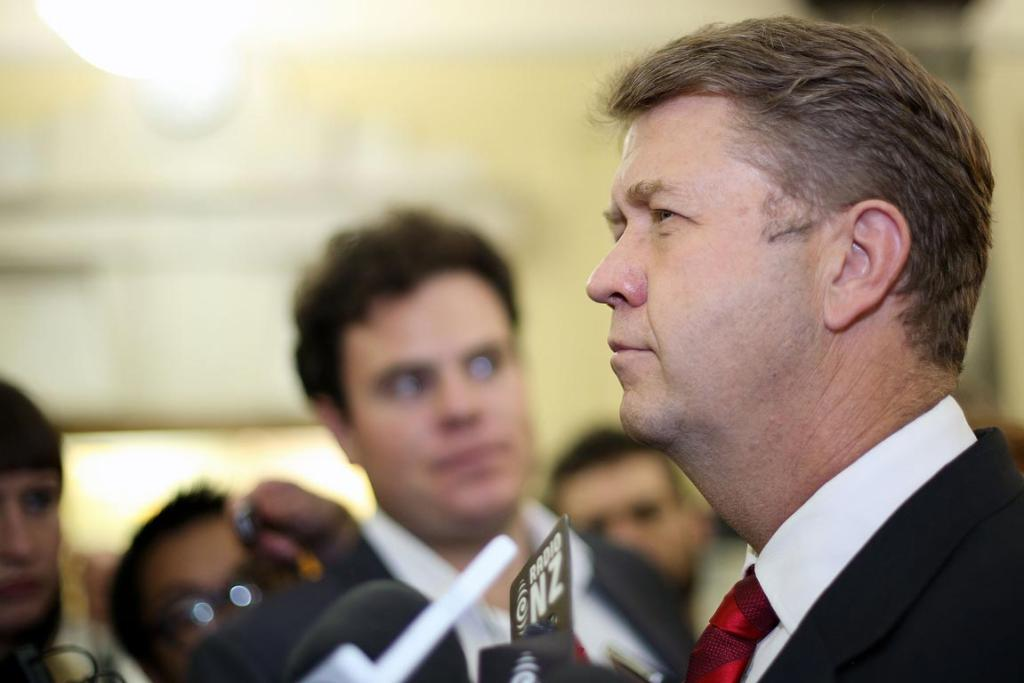 Labour Leader David Cunliffe speaks to media following the Government's 2014 Budget at Parliament in May.