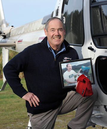 SPECIAL MEMENTO: Te Anau-based helicopter pilot Rod Hall-Jones still has his red woolly hat earned  from  his time as a crew member on the Calypso, the flagship of oceanographer Jacques Cousteau. Hall-Jones spent seven years flying for the Cousteau Society.