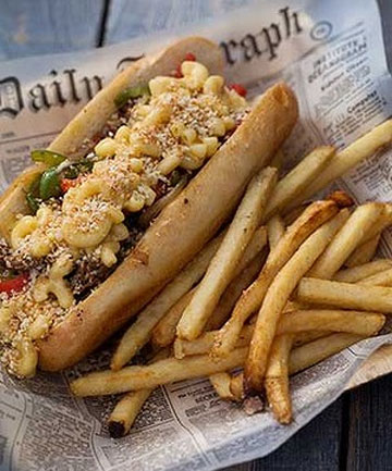 Park's Philly mac and cheese steak.