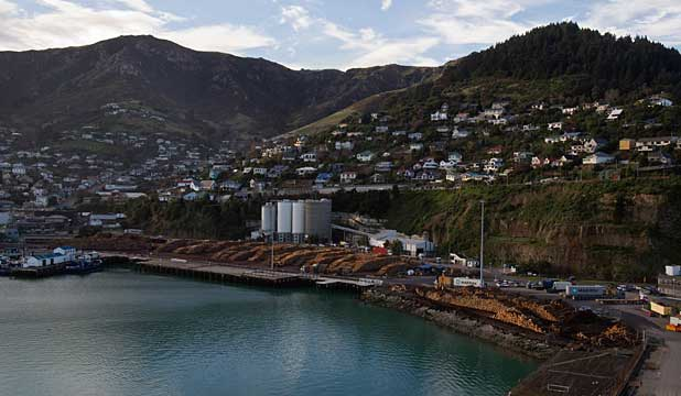 BATTERED: Lyttelton Port suffered tens of millions of dollars in quake damage.