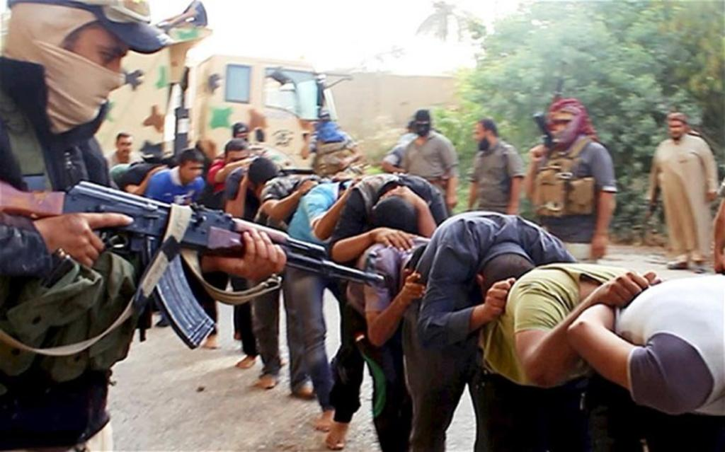 Soon after capturing Mosul, ISIL released graphic pictures showing them executing Iraqi soldiers.