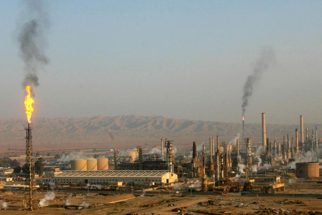 ISIL are now surrounding Iraq's largest oil refinery at Baiji, shown here in a file photo.