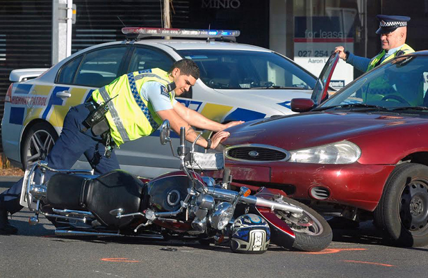 Bike crash Lower Hutt