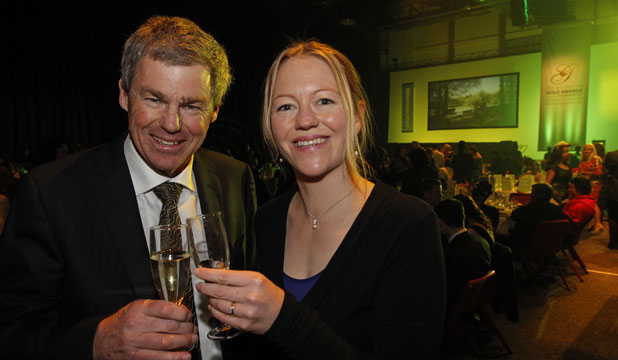 CELEBRATIONS: Malaghan Institute director Graham Le Gros and and technology manager Kylie Price.