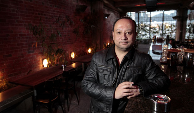 RIGHT TO SMOKE: Gary Armstrong, general manager at Ancestral in Courtenay Place, says the restaurant has spent about $500,000 on its outdoor smoking area, which was carefully designed to meet legal requirements.
