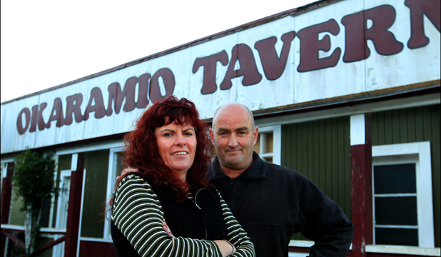 FOND MEMORIES:  Renwick couple Gavin and Evelyn McLean have lots of stories to tell about the Okaramio Tavern and are sad to see it go.
