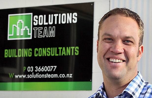 A ROCKY START: Solutions Team director Simon Louttit is hoping an arrangement can be reached with the city council that will ensure his company's survival.