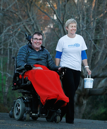 COLLECTING: Tony Gilchrist and wife Barbara will be raising awareness of and money for the treatment of motor neurone disease - something Tony was diagnosed with six years ago.