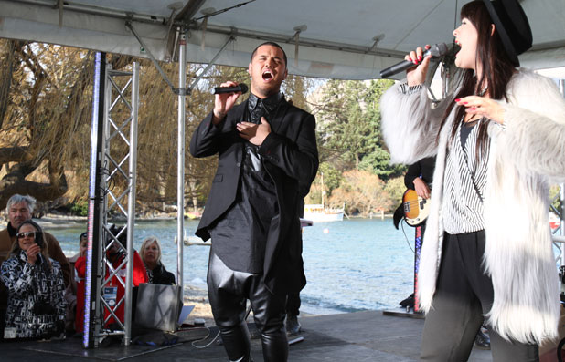 Stan Walker and Ginny Blackmore