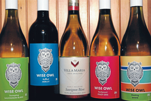CHEAP AND DELICIOUS:  The new season's range from Villa Maria, including the debut Wise Owl labels.