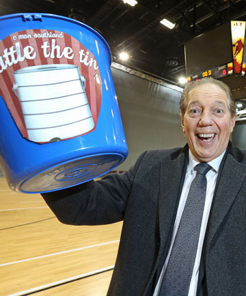 COME ON MAYORS: Invercargill Mayor Tim Shadbolt is behind the Rattle the Tin campaign for Stadium Southland.