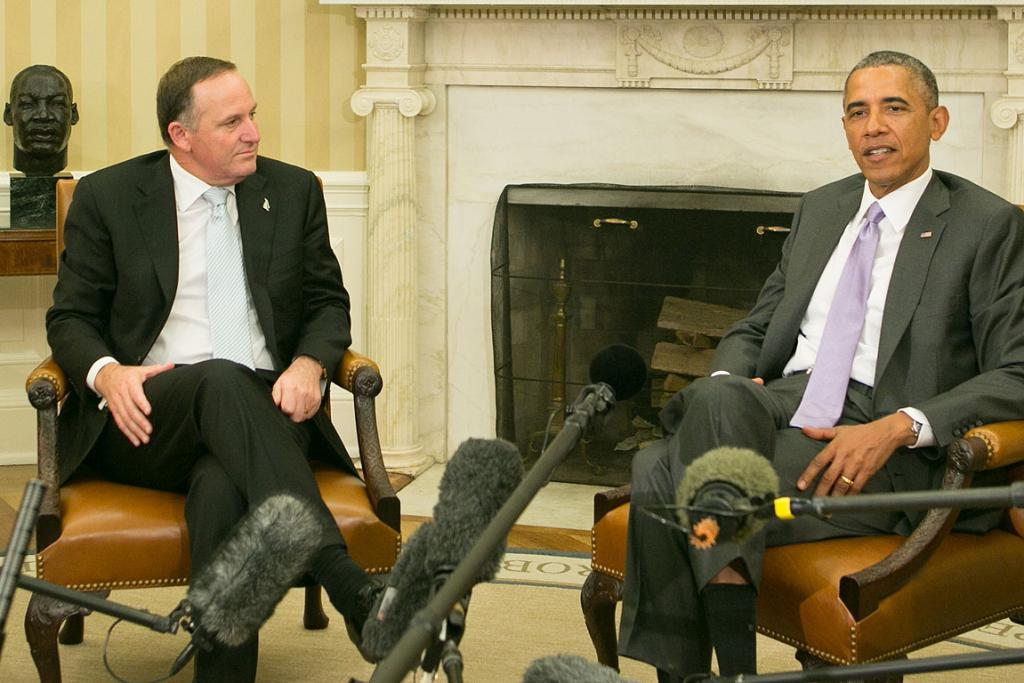 President Obama has met with Prime Minister John Key at the White House and has expressed an interest in visiting New Zealand before his presidential term is up.
